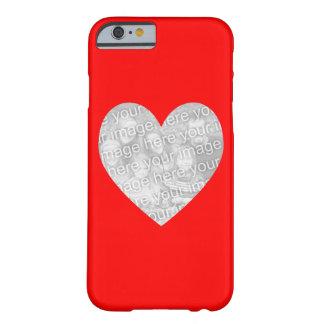 Rött hjärtaShapefoto Barely There iPhone 6 Skal