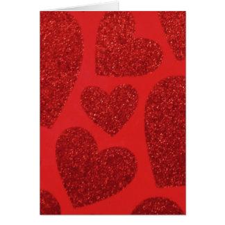 Rött hjärtavalentinkort hälsningskort