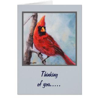 Rött huvudsakligt konsthälsningkort hälsningskort