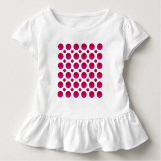 rött inslag för polka dots tröja