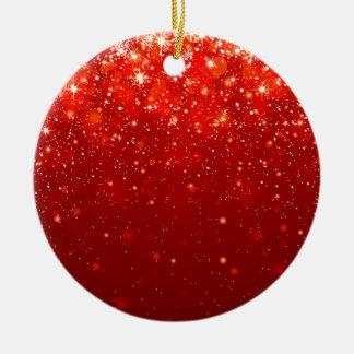 rött joyous glänsande mönster julgransprydnad keramik