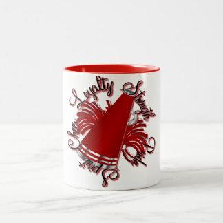 Rött jubel och silverkvaliteter Två-Tonad mugg