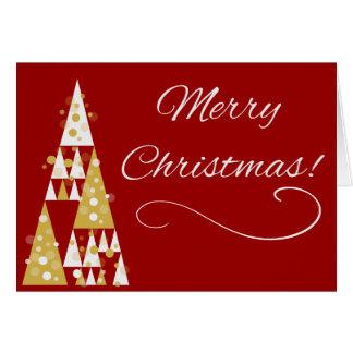 RÖTT julljus - anpassadeupplagakort Hälsningskort