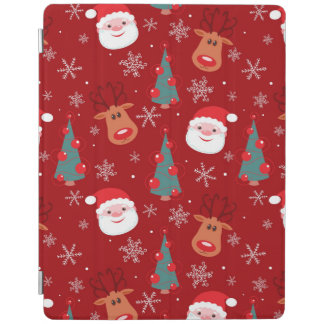 Rött julmönster iPad skydd