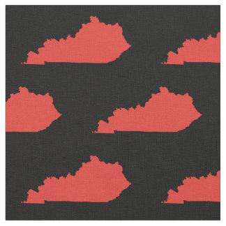 Rött Kentucky statligt mönster på svart Tyg