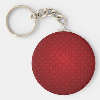 Rött klädde med filt pokerborddesign rund nyckelring