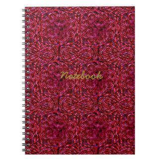 Rött körsbär anteckningsbok med spiral