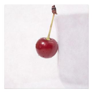 Rött körsbärsrött bär fototryck
