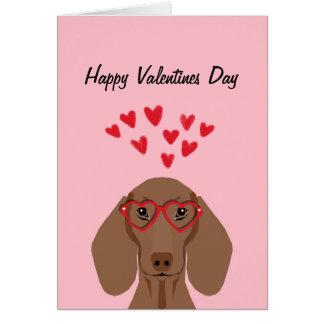 Rött kort för kärlek för Doxie taxvalentines -