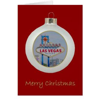 RÖTT kort för Las Vegas god julprydnad