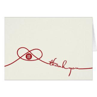 Rött kort för tack för bröllop för
