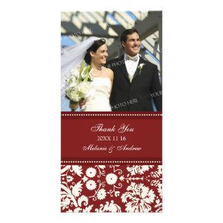 Rött kräm- tack som gifta sig fotokort