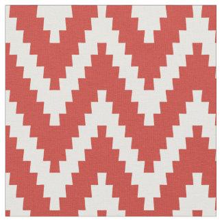 Rött & kräm- tyg för Ziggurat sparremönster