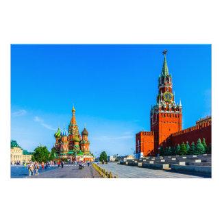 Rött kvadrera av Moscow Fototryck