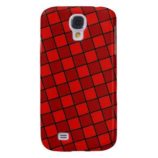 Rött kvadrera designen galaxy s4 fodral