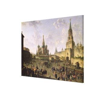 Rött kvadrera, Moscow, 1801 Canvastryck