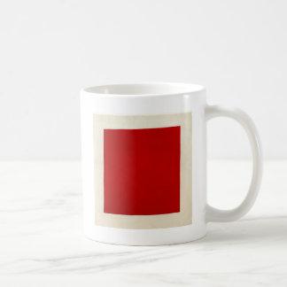 Rött kvadrera vid Kazimir Malevich Kaffemugg