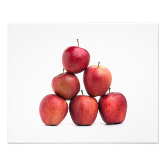 Rött - läcker äpplepyramid foton