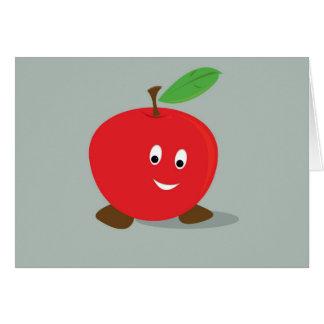 Rött le äpple hälsningskort