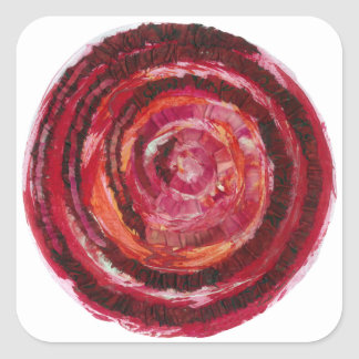 rött Måla-Tyg #2 för 1st-Root Chakra Fyrkantigt Klistermärke