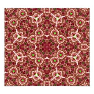 Rött mångfärgat abstrakt mönster fotontryck