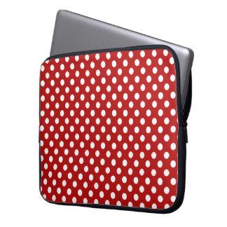 Rött med vitpolka dotslaptop sleeve laptopskydd