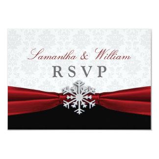 Rött meddelande för bandvinterbröllop OSA 8,9 X 12,7 Cm Inbjudningskort