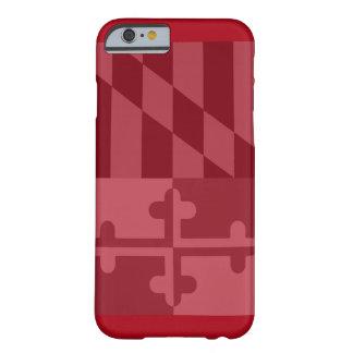 Rött mobilt fodral för Maryland flagga (lodrät) - Barely There iPhone 6 Skal