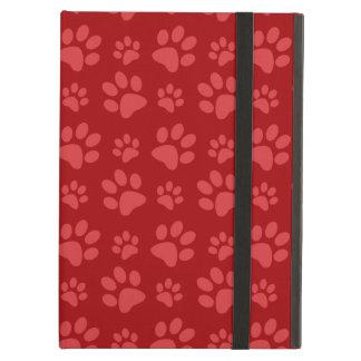 Rött mönster för hundtasstryck iPad air fodral