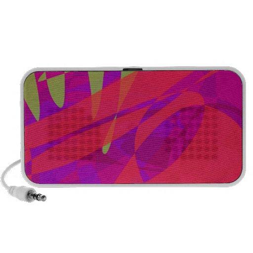 Rött monster laptop högtalare