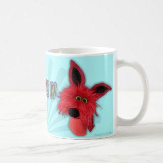 Rött monster kaffemugg