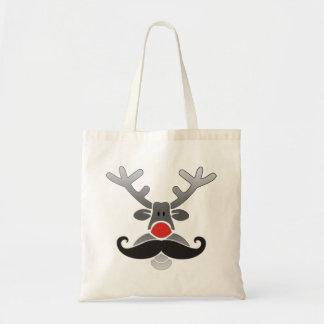 Rött Nosed med moustachen Tygkasse