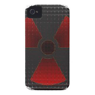 Rött Nuke exponeringsglas för BB Case-Mate iPhone 4 Case