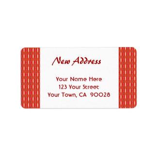 Rött nytt adress adressetikett