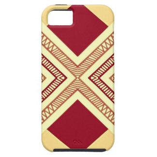 Rött och beige geometriskt fodral för tryck iPhone 5 fodral