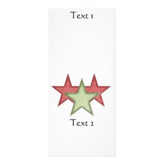 Rött och grönt för julstjärnakugge kort för KRW Anpassade Ställkort