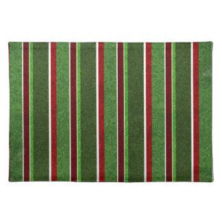 Rött och grönt randmönster för härlig helgdag bordstablett