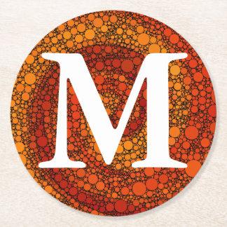 Rött och orangen cirklar det geometriska mönster underlägg papper rund