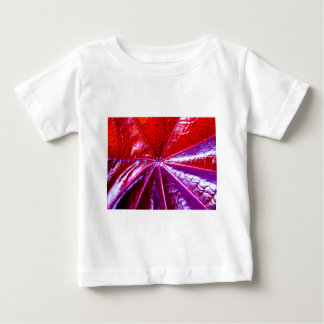 Rött och purpurfärgat tropiskt Castorlöv Tshirts