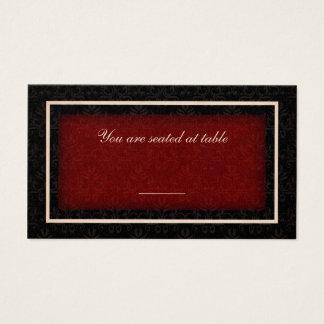Rött och svart kort för placering för