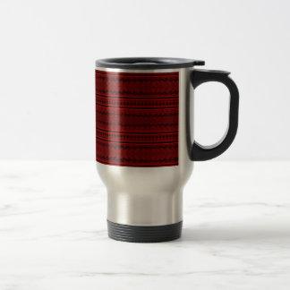 Rött och svart rostfritt stål resemugg