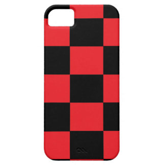 Rött och svart rutigt fodral för iPhone 5 iPhone 5 Hud