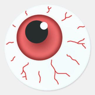 Rött öga för roliga Halloween Runt Klistermärke