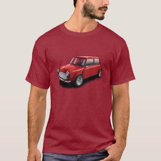 Rött på den mini- bilT-tröja för rödbrun klassiker T-shirt