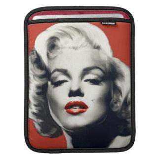 Rött på röd läppar Marilyn iPad Sleeve