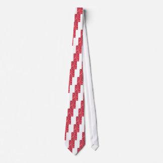 rött petalblommamönster slips