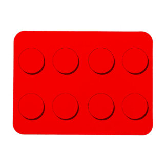 (Rött) plast- bygga kvarter, Magnet
