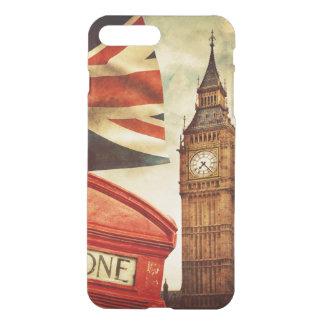 Rött ringa båset och stora Ben i London, England iPhone 7 Plus Skal