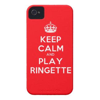 "Rött Ringette blackberry boldfodral - ""behållalugn iPhone 4 Skydd"