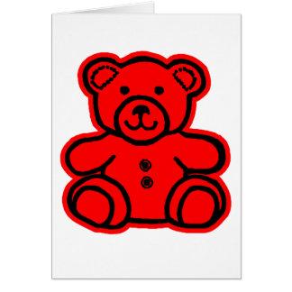 Rött rött för nalle de MUSEUMZazzle gåvorna Hälsningskort